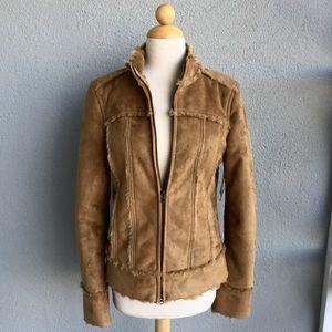 🆕 Calvin Klein Vegan Leather Faux Fur Jacket Sz M